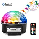 Bluetooth Party Lights,9 Colors LED Sound Activated Strobe Rotating Bluetooth Speaker Disco Ball Party Lights,Dj Stage Lighting with Remote Control for Halloween Party Xmas Bar Club Wedding Show