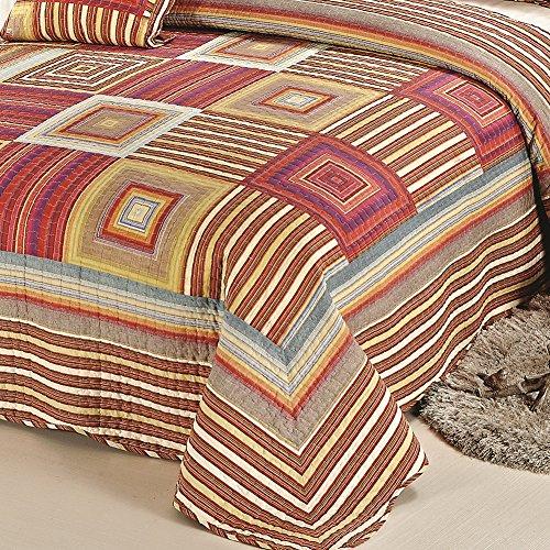 XQL 100% Cotton Irregular 3 Piece Quilt Set Muti-Color - King Size