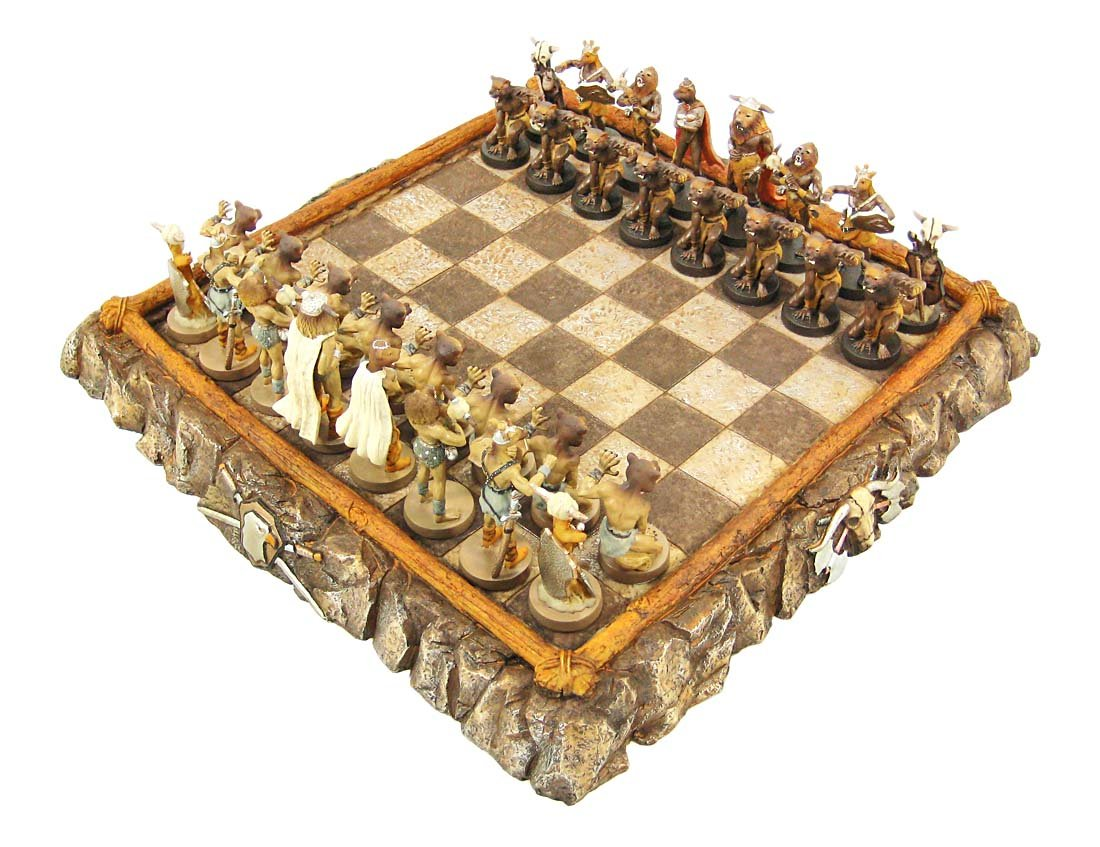 Baarbarian Animal Warriors Chess Set with 24 Board