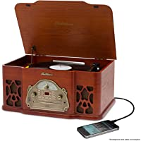 Electrohome Wellington Record Player Retro Vinyl Turntable Real Wood Stereo System