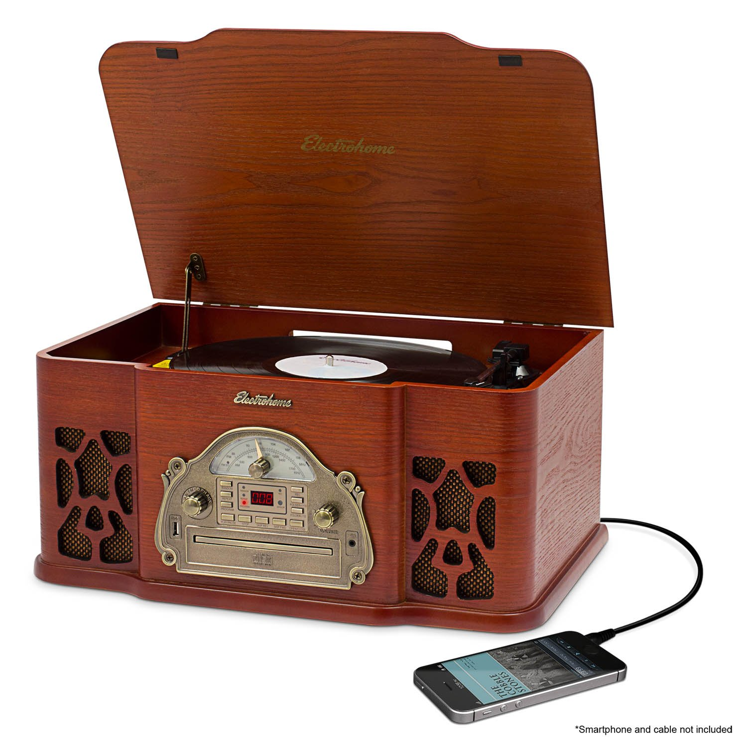 Electrohome Wellington Record Player Retro Vinyl Turntable - EANOS502