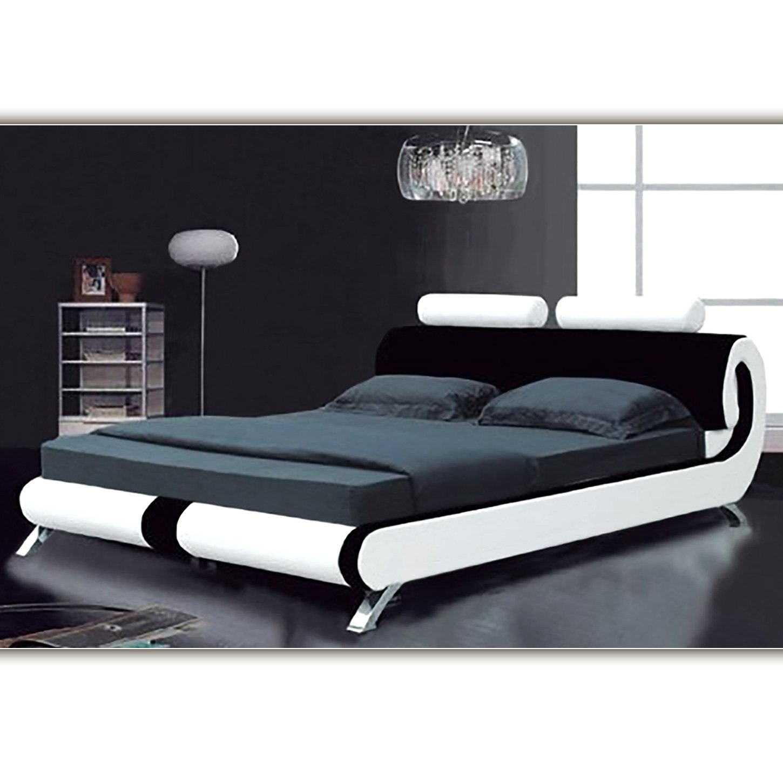 (863) KÖLN' Schwarz Doppelbett Polsterbett 140x200cm Bettgestell Bett Lattenrost online kaufen