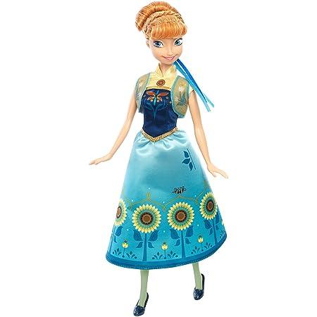 Mattel – Disney – La Reine des Neiges : Une Fête Givrée – Anna Fete d'Anniversaire – Poupée Mannequin