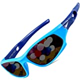 ATTCL Kids Hot TR90 Polarized Sports Sunglasses For Boys Girls Child Age 3-10 1P5025 bule (Color: Bule, Tamaño: Small)