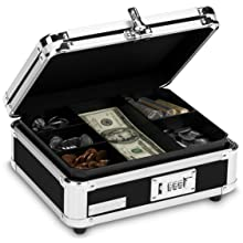 Vaultz Locking Cash Box, Black (VZ01002)