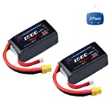 MELASTA 2Packs 14.8V 1500mAh 50C RC Lipo Battery with XT60 Plug for RC Quadcopter Drone