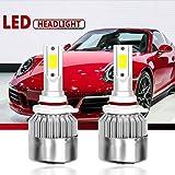 Malcam 880/881/H27 LED Headlight Bulbs All-in-One Conversion Kit, 7600LM 72W 6000K Cool White COB, IP68 Waterproof LED Headlight Bulb - 3 Yrs Warranty (Tamaño: 880/881/H27)