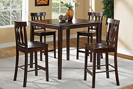 Roscof 5 Pieces Rich Brown Dining Room Set
