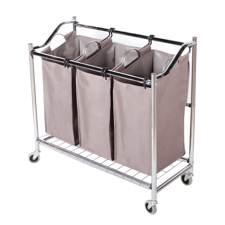 Bags Storage Cart Rolling Laundry Hamper Sorter Superior