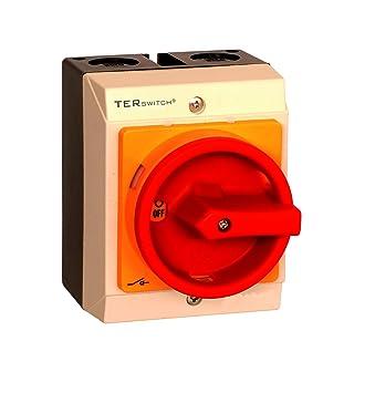 hauptschalter 10a 3 polig im geh use lasttrennschalter not aus schalter js3p10a g us396. Black Bedroom Furniture Sets. Home Design Ideas