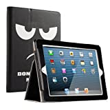 RUBAN iPad 2/3/4 Case Release[Corner Protection]-[Scratch-Resistant]and High-grade PU Leather Folio Stand Smart Cover, Auto Wake/Sleep for Apple iPad 2th/3th/4th Gen with Retina Display,Don't Touch Me (Color: Don't Touch Me, Tamaño: iPad 2/3/4)