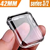 VUV Apple Watch 42 mm Case (Series 2/ Series 3), iwatch screen protector Premium TPU Full Coverage Protective Cover 0.3mm hd clear ultra-thin for Apple Watch (Series 2 / Series 3) 42MM (Tamaño: 42 mm)