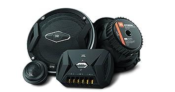JBL Car GTO 609C Système Audio Auto Incluant 1 Paire d'Enceintes 165mm (6.5'') 2-Voies, 2x Médiums et 2x Aigus - Noir