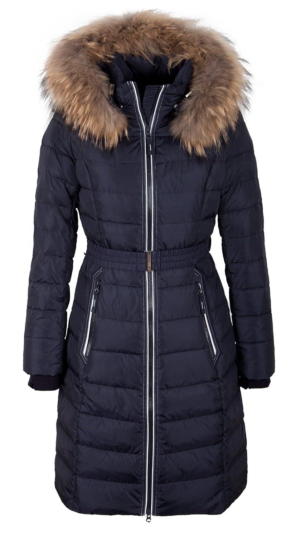 "Q306 Damen Daunenmantel ""SNOWIMAGE"" mit Echtfellkapuze blau kaufen"