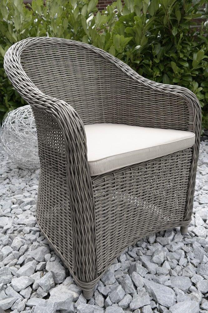 "Polyrattan Sessel ""Sylt"" Terassenmöbel Geflecht Gartenmöbel Gartenstuhl grau-meliert jetzt bestellen"