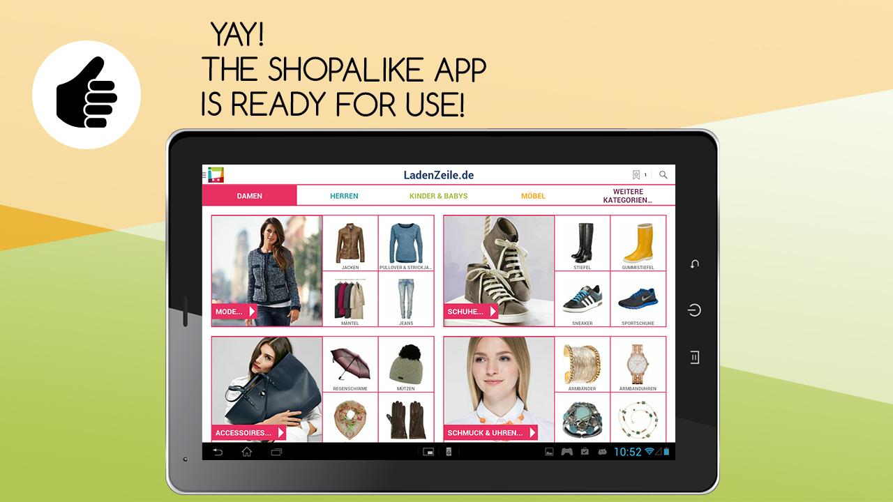 shopalike app shop per android. Black Bedroom Furniture Sets. Home Design Ideas