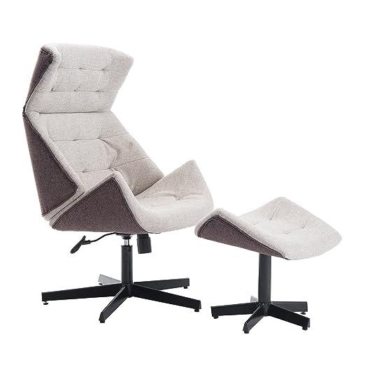 Homcom® Relaxsessel Fernsehsessel TV Sessel Ruhesessel mit Hocker verstellbar