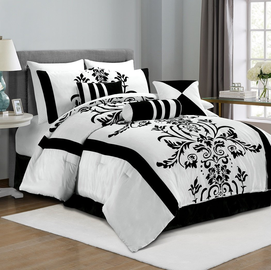 black and white bedding ease bedding with style. Black Bedroom Furniture Sets. Home Design Ideas