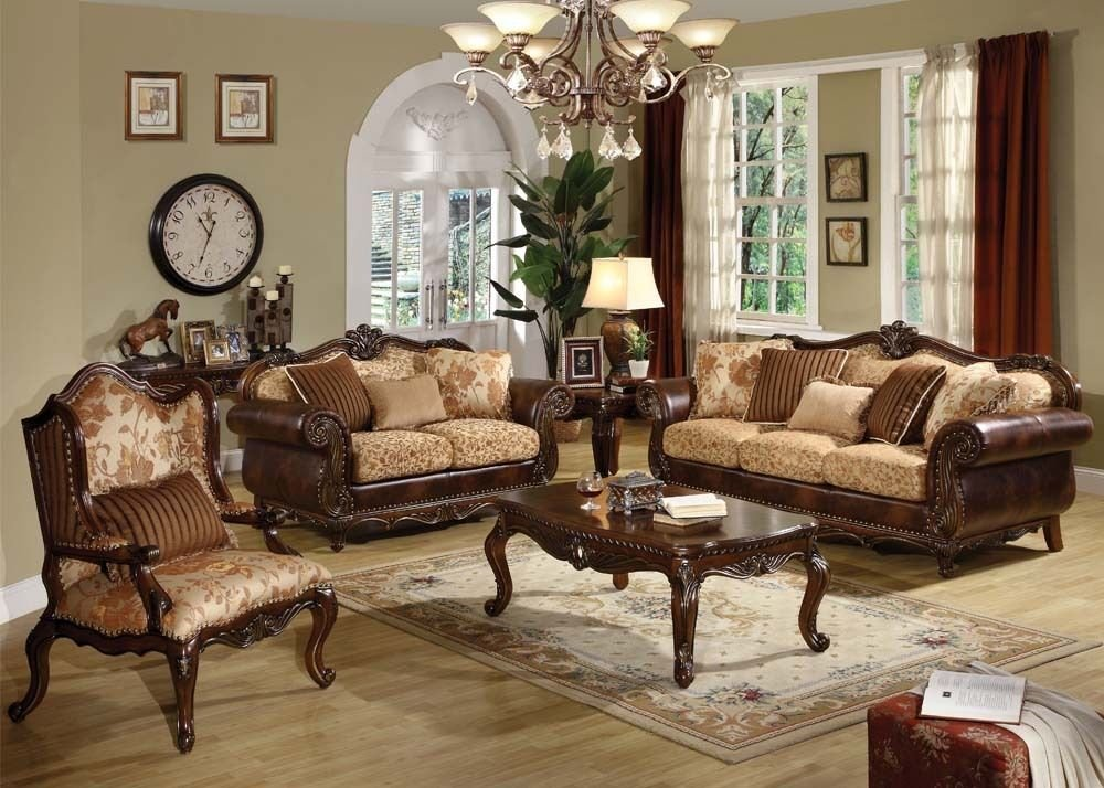 Acme 50155 Remington Brown Cherry Finish Sofa Set