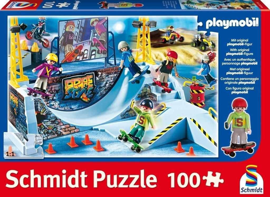 Schmidt – Playmobil, Skater-Park, 100 Teile Puzzle günstig kaufen