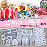 Crystal Glue Mold Set - DIY Crystal Glue Jewelry Mold 83 Pcs Set Handmade Crystal Glue Mold Set - DIY Key Chain, Earrings, Necklaces, Pendant, Bracelets and More (White 2) (Color: White 2, Tamaño: as shown)