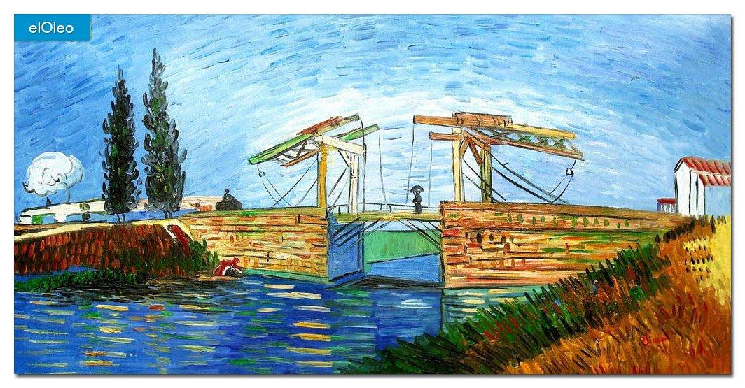 elOleo Vincent van Gogh – Brücke von Langlois in Arles 60×120 Gemälde auf Leinwand handgemalt 83434A günstig kaufen