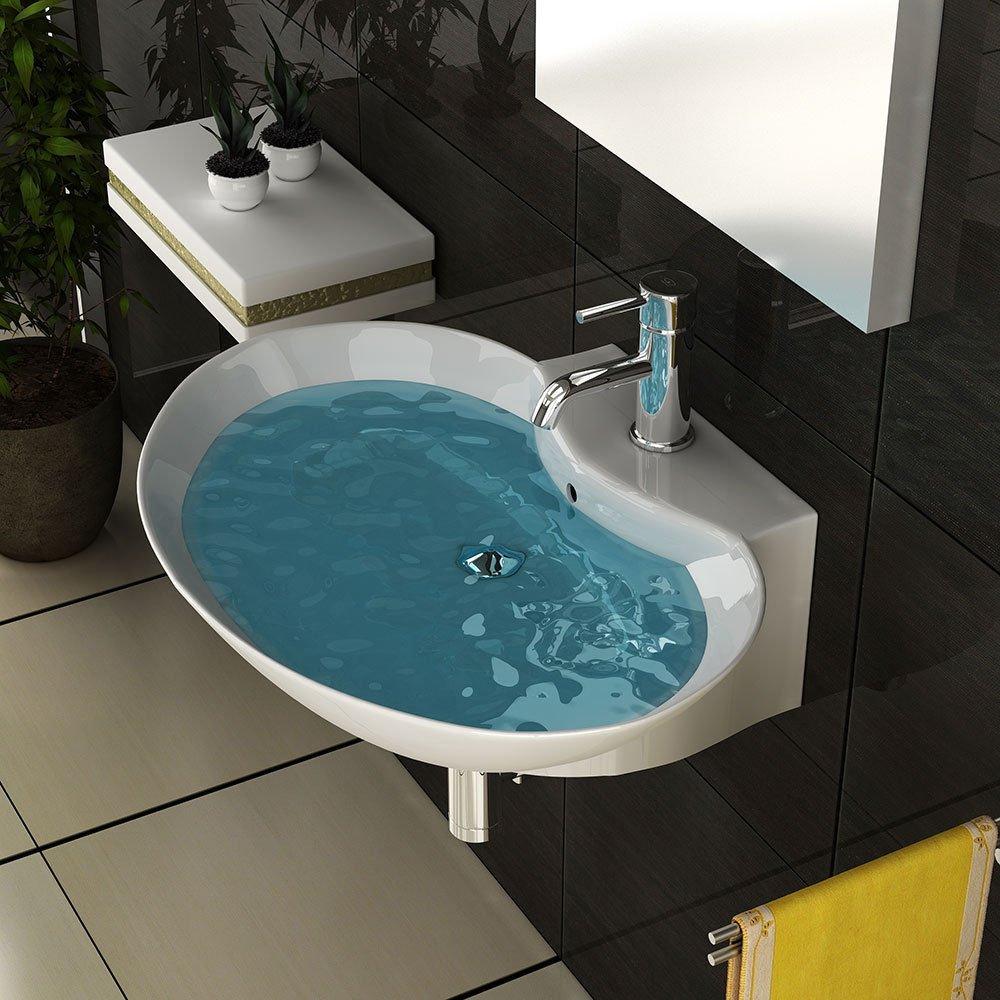 Badezimmer Hand Waschbecken Sanitärkeramik Zeitloses Waschbecken Keramikbecken Ovales Becken Waschbecken  BaumarktKritiken und weitere Informationen