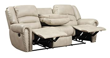 Glory Furniture Reclining Sofa, Beige