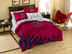 MLB Los Angeles Angels Twin Full Sized Comforter with Shams by Northwest