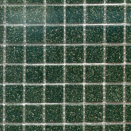 Glasmosaik uni schwarz 20x20 (1 Matte)