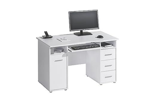 Computertisch Schreibtisch MAJA in Icy Weiß 120x75x67cm PC-Tisch
