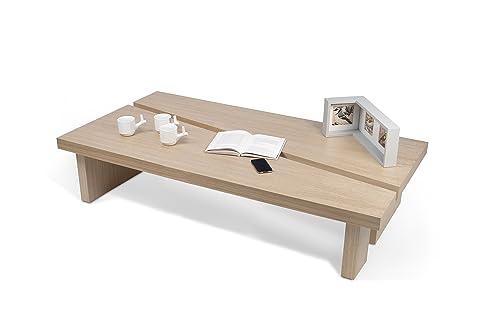 TemaHome JJ Set di Tavolini, Legno, Rovere, 140x70x30 cm