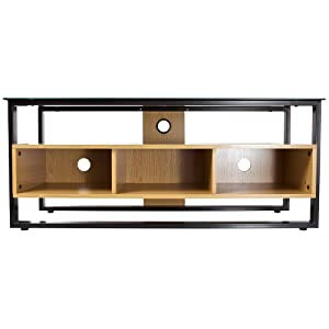 Proper Contemporary Design Tempered Glass and Wood Floor Stand for TV       TVreview and more info