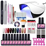 Fashion Zone 10 Colors Soak Off Gel Polish Starter Kit 36W LED UV Nail Dryer Curing Lamp Manicure Nail Tool (Color: G10A)