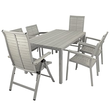 EUROPA LEISURE SUMMER TERRACE ST/653 FONTELLO 2 and 4 Chair Dining Set - Silver Grey