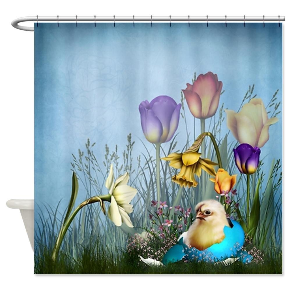 CafePress Easter Egg Chicken Shower Curtain