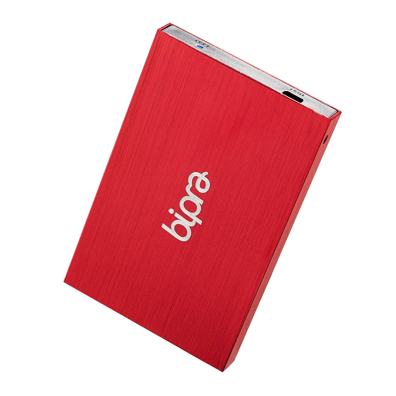 Bipra 160Gb 160 Gb 2.5 Usb 2.0 External Pocket Slim Hard Drive - Red - Fat32 (160Gb) ssk she066 f 2 5 sata external enclosure mobile storage solution hard drive case