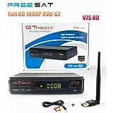 GTMEDIA V7S HD 1080P DVB-S2 Digital satellite TV Receiver + 1pc AV Cable + USB Wifi