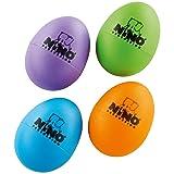 Nino Percussion Shaker, Aubergine, Grass Green, Orange, Sky Blue, inch (NINOSET540-2)