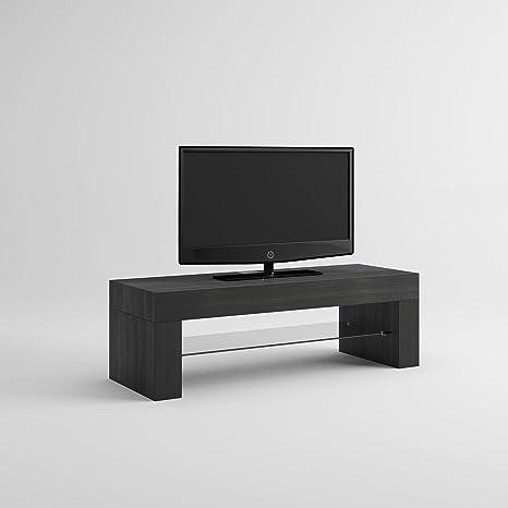mobilifiver Evo Mobile-TV, Holz, Esche schwarz, 112x 40x 36cm