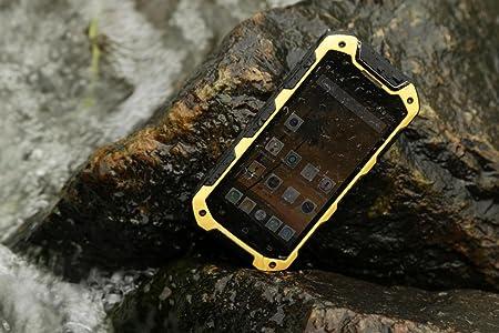 Bestore(TM) - V12+ IP67 Tri-preuve étanche à la poussière antichoc MTK6582 1.3GHz Quad Core 4,5 pouces écran 1280 x 720 Pixel IPS Android 4.4 1G RAM + 8G ROM 8MP caméra Dual SIM 3G WCDMA déverrouillé Smartp