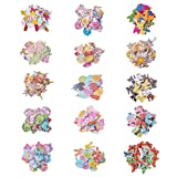 PandaHall Elite 300 Pcs Wooden Cartoon Animal Buttons with 2 Hole 15 Styles for Sewing Scrapbooking and DIY Handmade Craft Assorted Design (Color: Mixed Colors-300 Pcs, Tamaño: 15 Styles-Length 16~35mm)