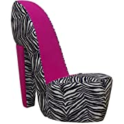 Superbe Zebra And Red High Heel Shoe Chair Price · Shoe Chair In Hot Pink