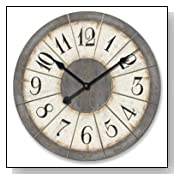 Hand Crafted Open Face Large Wall Clock
