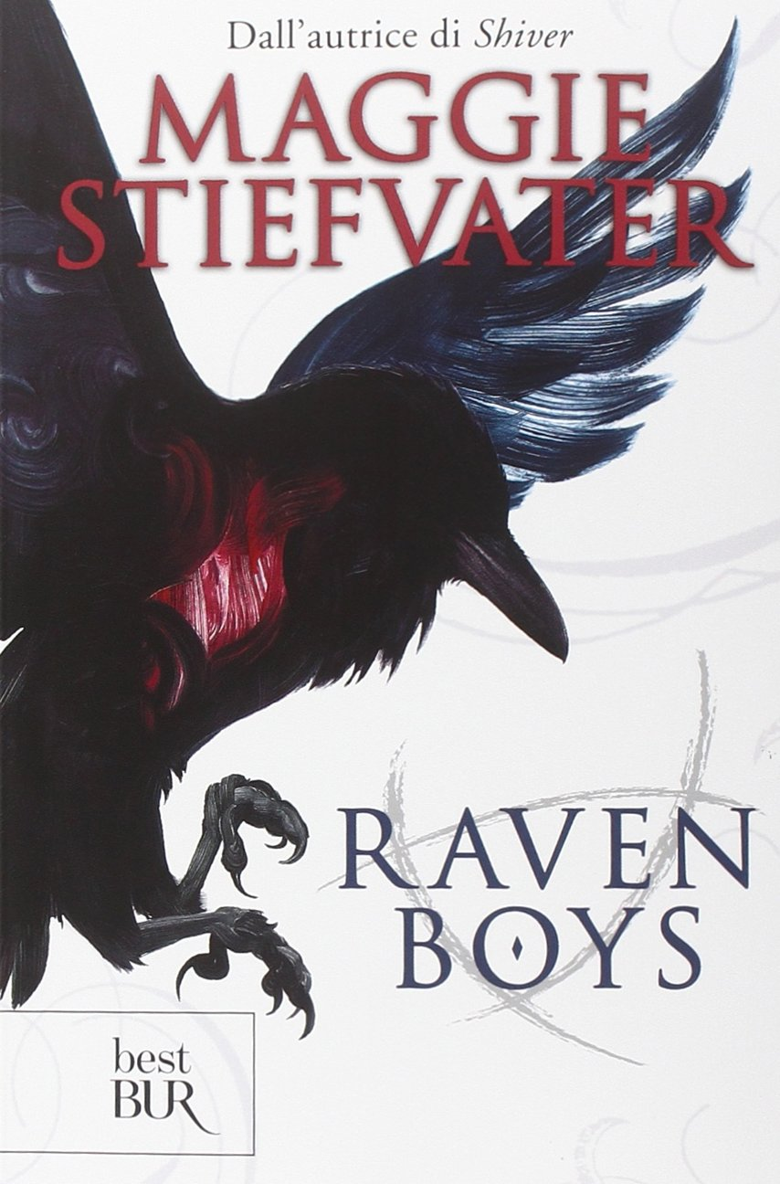 http://www.amazon.it/Raven-boys-Maggie-Stiefvater/dp/881707781X/ref=tmm_pap_title_0