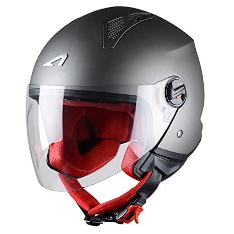 Astone Helmets MINIM-TITL Casque Jet Mini Jet, Gris (Metal Matt), L