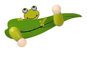 Sale lucide froggy applique a parete in legno e