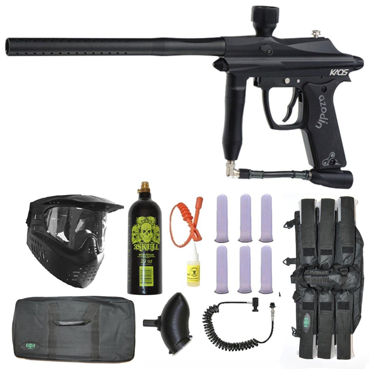 Azodin Kaos Paintball Marker Gun 3Skull Sniper Set - Black
