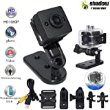 Mini Camera Sport Waterproof Camera Diving can reach up to 30 meters-Babysitter Surveillance-Home Security-Conference Recorder-Spy Camera-Hidden Came (Color: black, Tamaño: black)