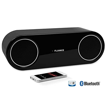 Fluance Fi30 High Performance Wireless Bluetooth Wood Speaker System with aptX Enhanced Audio (Piano Black): MP3 Players & Ac